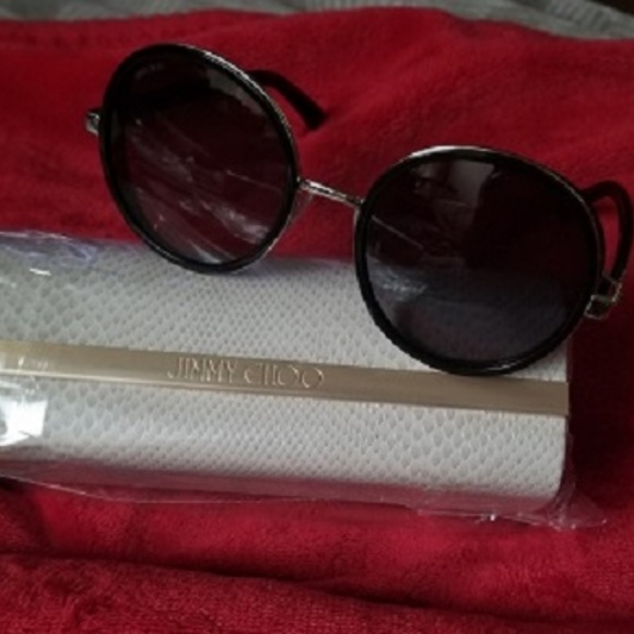 5938e812e0d5 Jimmy Choo - Andie Crystal Round Sunglasses